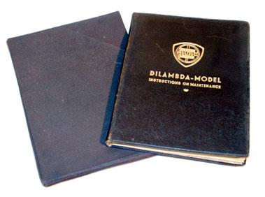 Lot 112-Lancia Dilambda Instruction Book
