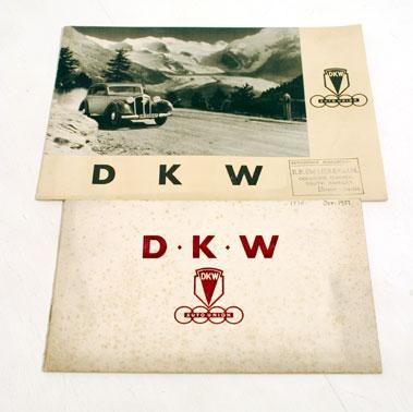 Lot 119-Two Pre-war D.K.W. Sales Brochures