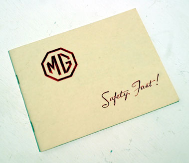 Lot 121-MG 'Safety Fast!' Sales Brochure