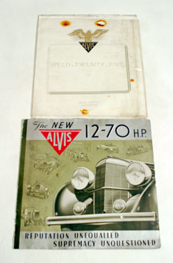 Lot 122-Two Pre-war Alvis Sales Brochures