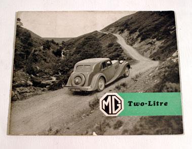 Lot 127-MG Two Litre Sales Brochure