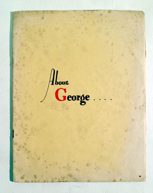 Lot 128-MG 'About George' Sales Brochure