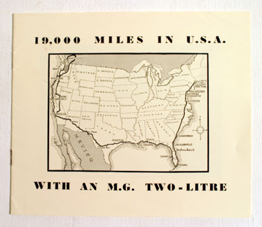 Lot 129-'19,000 Miles In U.S.A. With An M.G. Two Litre' Brochure