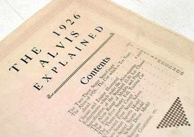 Lot 135-'The 1926 Alvis Explained' Brochure