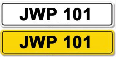 Lot 16-Registration Number JWP 101