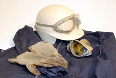 Lot 216-Dunlop Driving Suit, Helmet, Goggles & Gloves