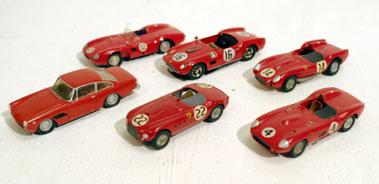 Lot 217-Six Hand-Built Ferrari models