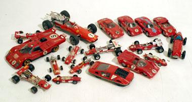 Lot 219-Eighteen Racing Ferrari Models