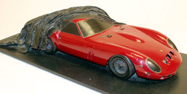"Lot 221-""Red Ferrari"" Bronze Sculpture by Steve Cook **"
