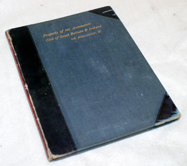 Lot 302-1902 RAC '650 Miles Reliability of Motor Vehicles Trial' Programme