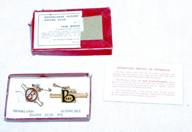 Lot 107-Two Brooklands Member's Badges
