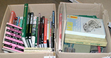 Lot 146-Two Boxes of MG Literature