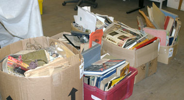 Lot 147-Five boxes of Literature & Other Items**
