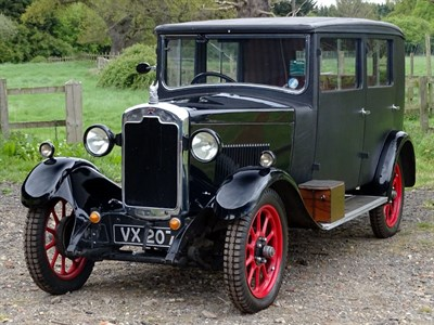Lot 25-1929 Rover 10/25 Weymann Saloon