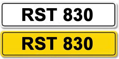 Lot 3-Registration Number RST 830