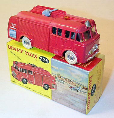 Lot 203-Dinky Toys #276 Airport Fire Tender & #285 Merryweather Marquis Fire Tender