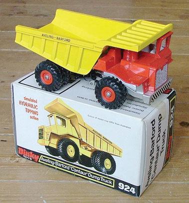 Lot 204-Dinky Toys #924 Aveling Barford Centaur Quarry Heavy Duty Dump Truck & #976 Michigan 180-iii Tractor