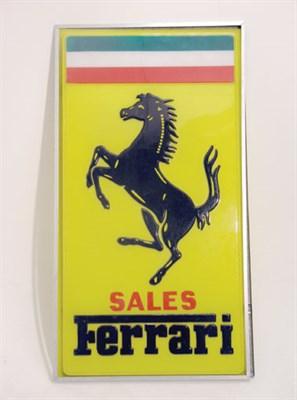 Lot 701-Ferrari 'Sales' Perspex Lightbox