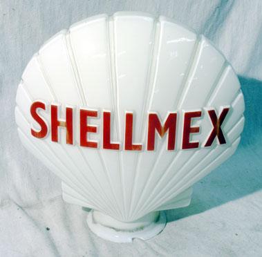 Lot 704-Shellmex Glass Petrol Pump Globe