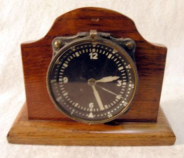 Lot 400-An Early Aeroplane Cockpit Clock