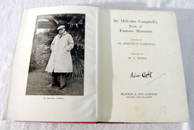 Lot 102-Sir Malcolm Campbell's Book of Famous Motorists - Signed