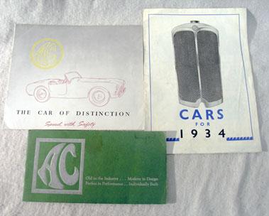 Lot 109-Three AC Sales Brochures