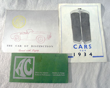Lot 109-Three AC Sales Brochures