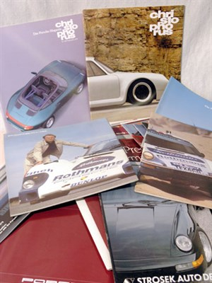 Lot 118-Quantity of Porsche Sales Brochures & Literature