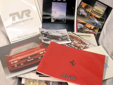 Lot 156 - Quantity of British Sports Car Sales Brochures