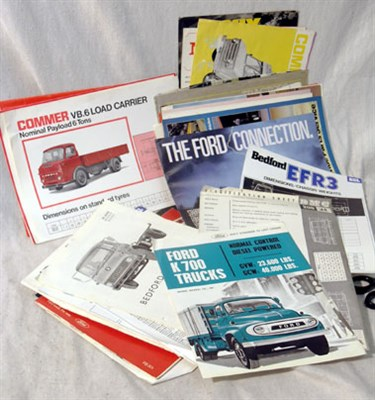Lot 159-Quantity of Commercial Vehicle Sales Brochures