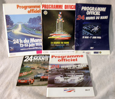Lot 166-Five Original Le Mans Programmes