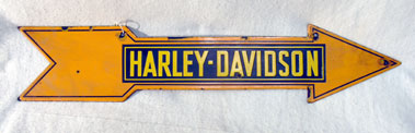 Lot 706-Harley-Davidson Motorcycles Enamel Sign