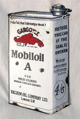 Lot 707-Gargoyle Mobiloil Enamel Sign