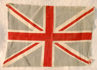 Lot 610-Malcolm Campbell signed Union Jack Flag