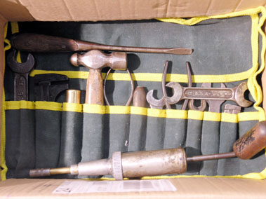 Lot 323-Hand Tools Suitable for a Vintage Bentley