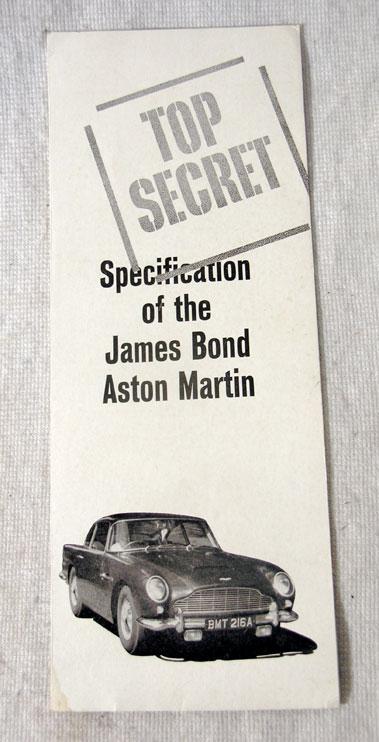 Lot 107 - Top Secret - Specification of the James Bond Aston Martin