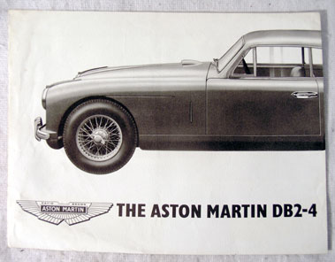 Lot 120-Aston Martin DB 2-4 Sales Brochure