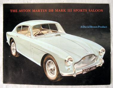Lot 122-Aston Martin DB Mark III Sports Saloon Sales Brochure