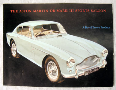 Lot 122-Aston Martin DB Mark III Sports Saloon Sales Brochure