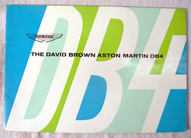 Lot 125-Aston Martin DB4 Original Sales Brochure