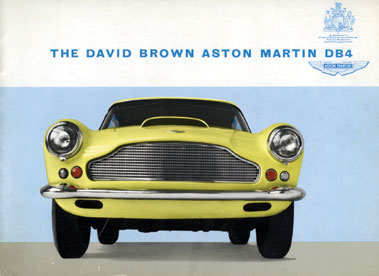 Lot 127-Aston Martin DB4 Saloon Original Sales Brochure