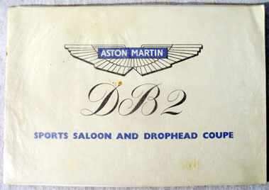 Lot 134-Aston Martin DB2 Sales Brochure
