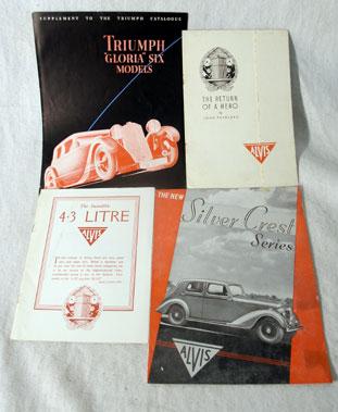 Lot 163-Alvis & Triumph Pre-war Sales Brochures