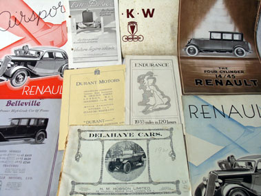Lot 165-Pre-War International Sales Brochures