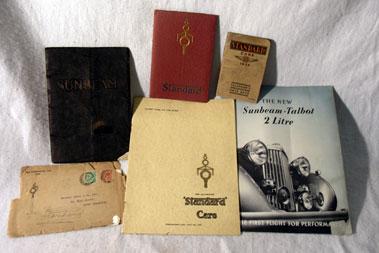 Lot 168-Quantity of Standard & Sunbeam Pre-War Brochures