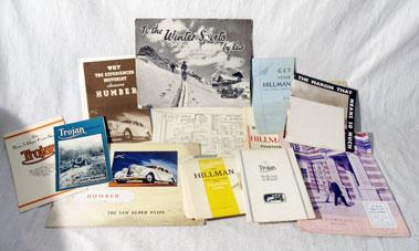 Lot 171 - Hillman, Humber & Trojan Pre-War Brochures