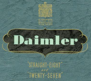 Lot 173-Two Pre-War Daimler Sales Brochures