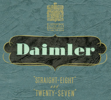 Lot 173-Two Pre-War Daimler Sales Brochures