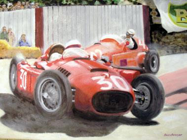 Lot 507-Barry Bowyer Lancia D50 Original Artwork