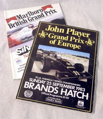 Lot 603-Two 1983 Signed Race Programmes